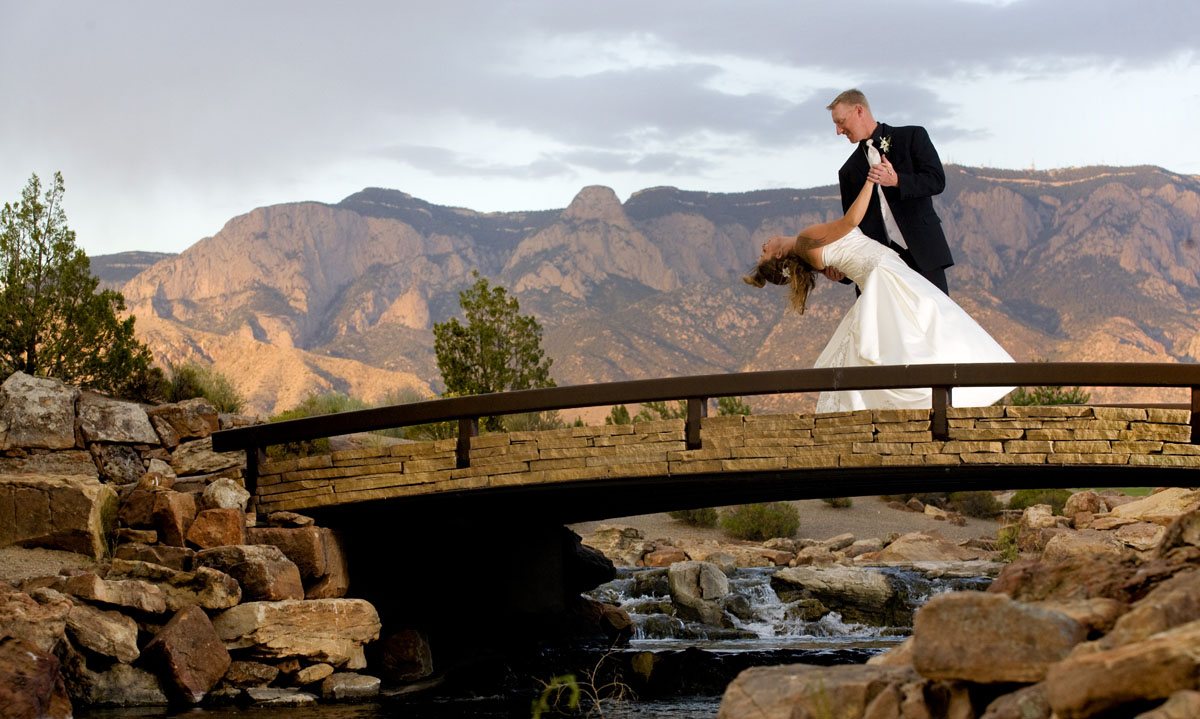 Kingsley Images - Sandia Resort Wedding Couple Portrait